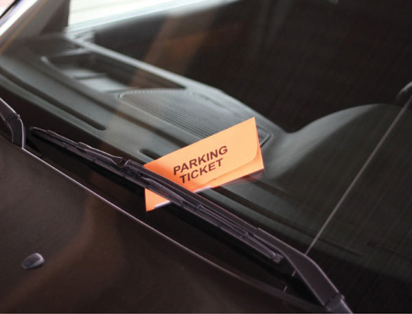 parking citation under a windsheild wiper